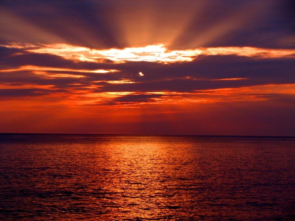 Sonnenuntergang am CP Pineta