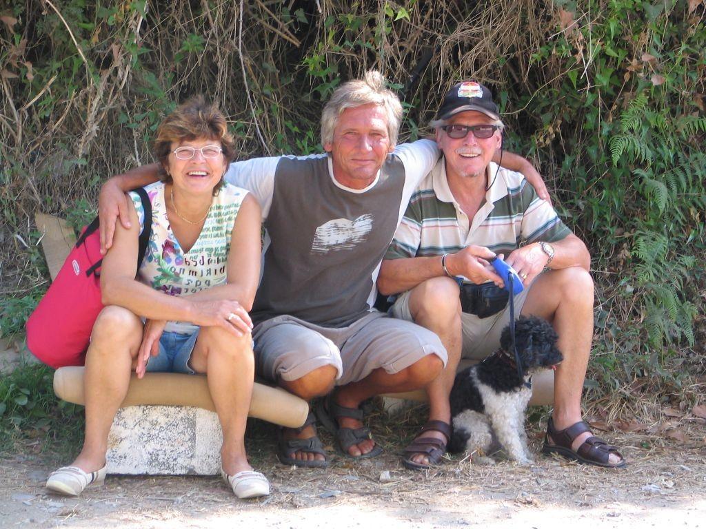 Sigi & Martina und unser freundlicher Platzwart