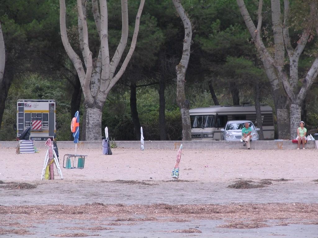 6 € die sich lohnen. mit dem Womo direkt am Strand.
