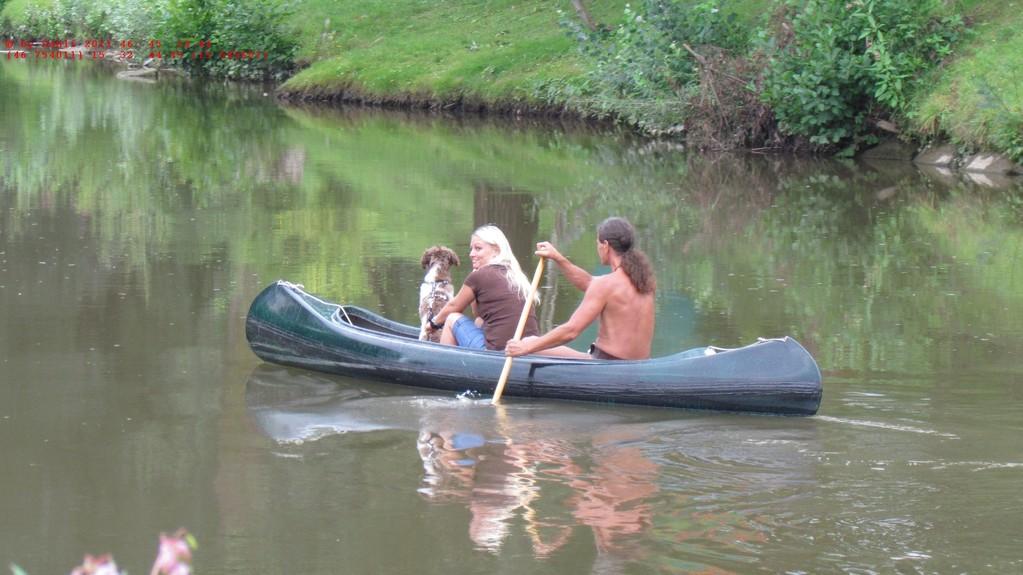 Ausflug des Indianers mit Squaw