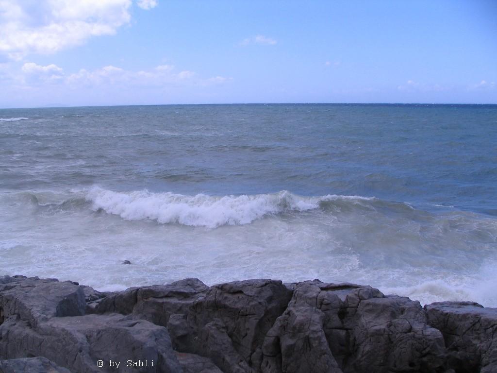 Stürmisches Wetter in der Bucht