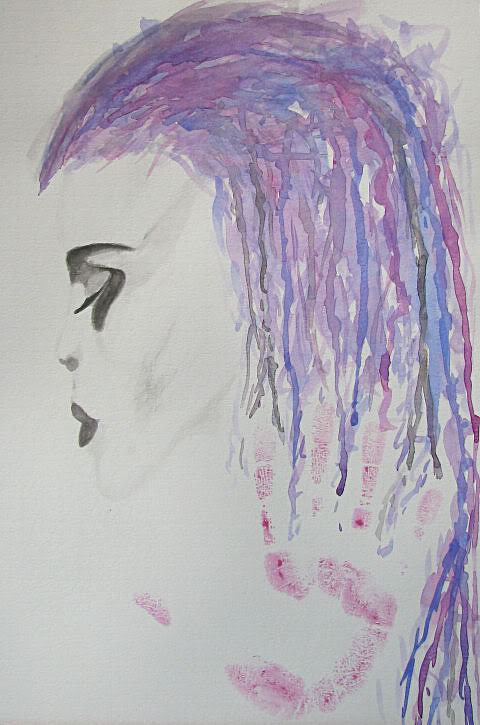 Keep your thoughts aquarel Art