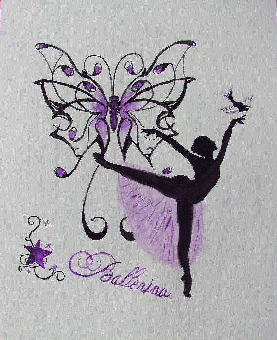 Ballerina aquarel Art