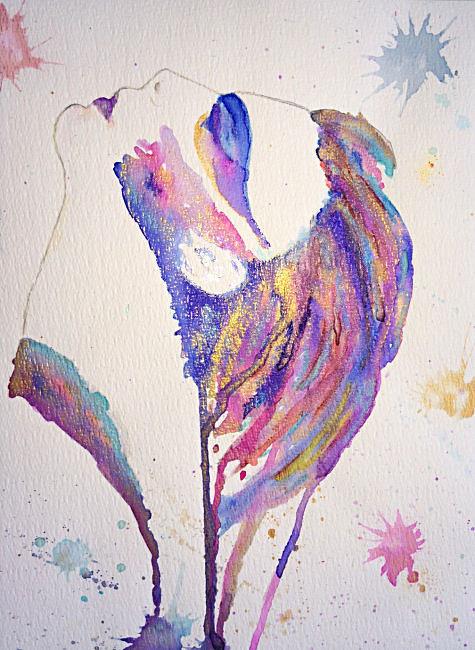 Hoop aquarel Art met twinkling effect