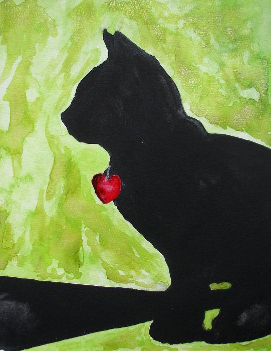 Hartendief aquarel Art met twinkling effect