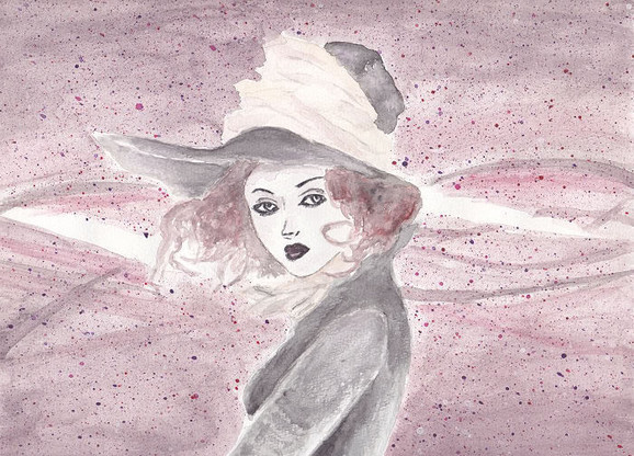 My lady aquarel Art