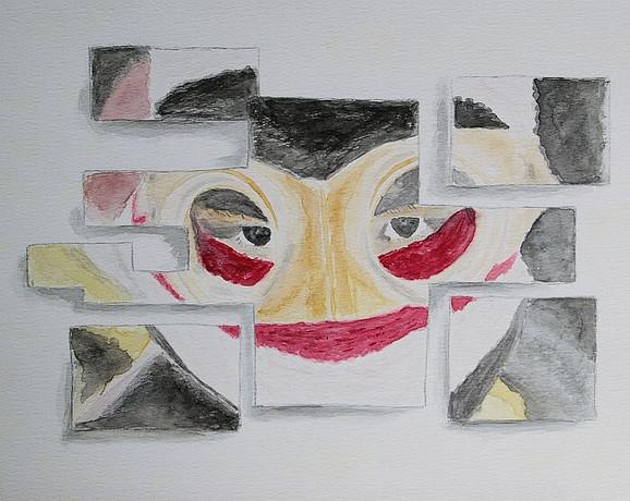 Fear aquarel Art