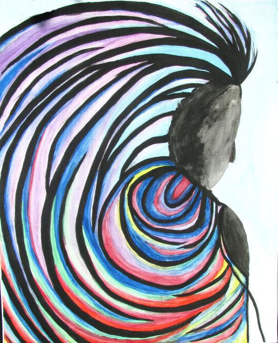 Watch your back aquarel Art