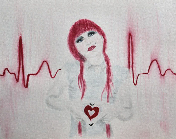 Heartbeat aquarel Art