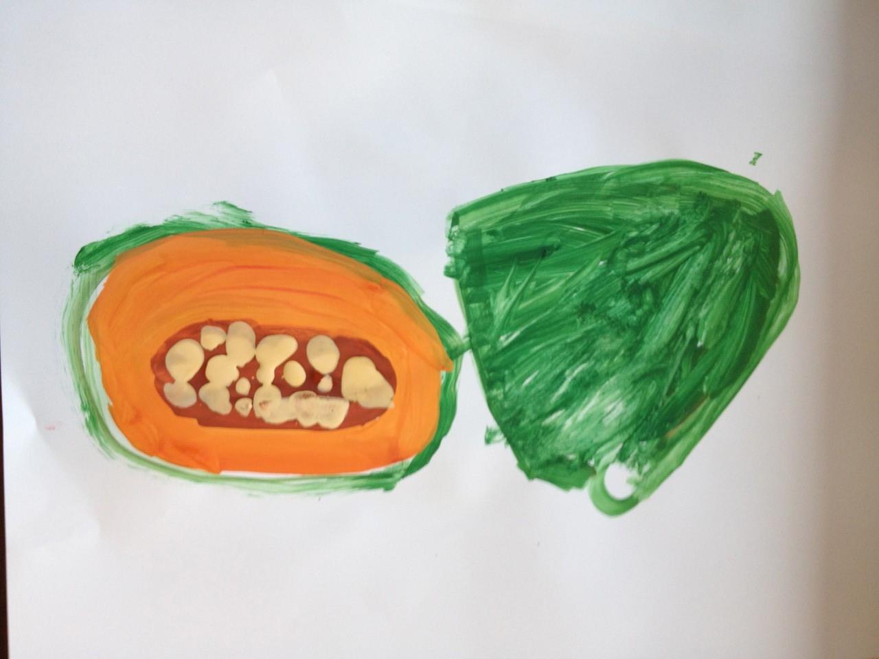 かぼちゃの色合いをよく捉えた作品です