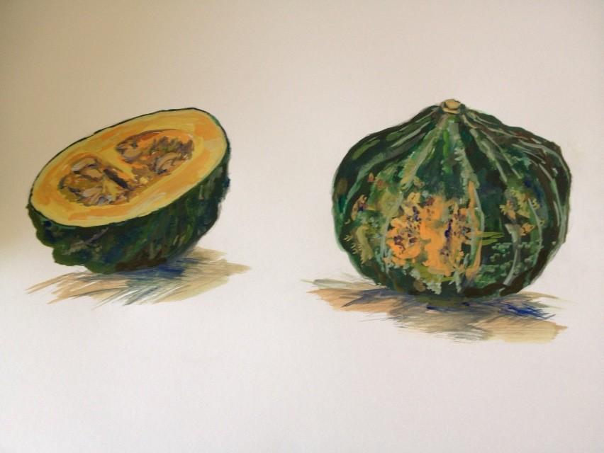 季節の食材かぼちゃを描こう(見本)