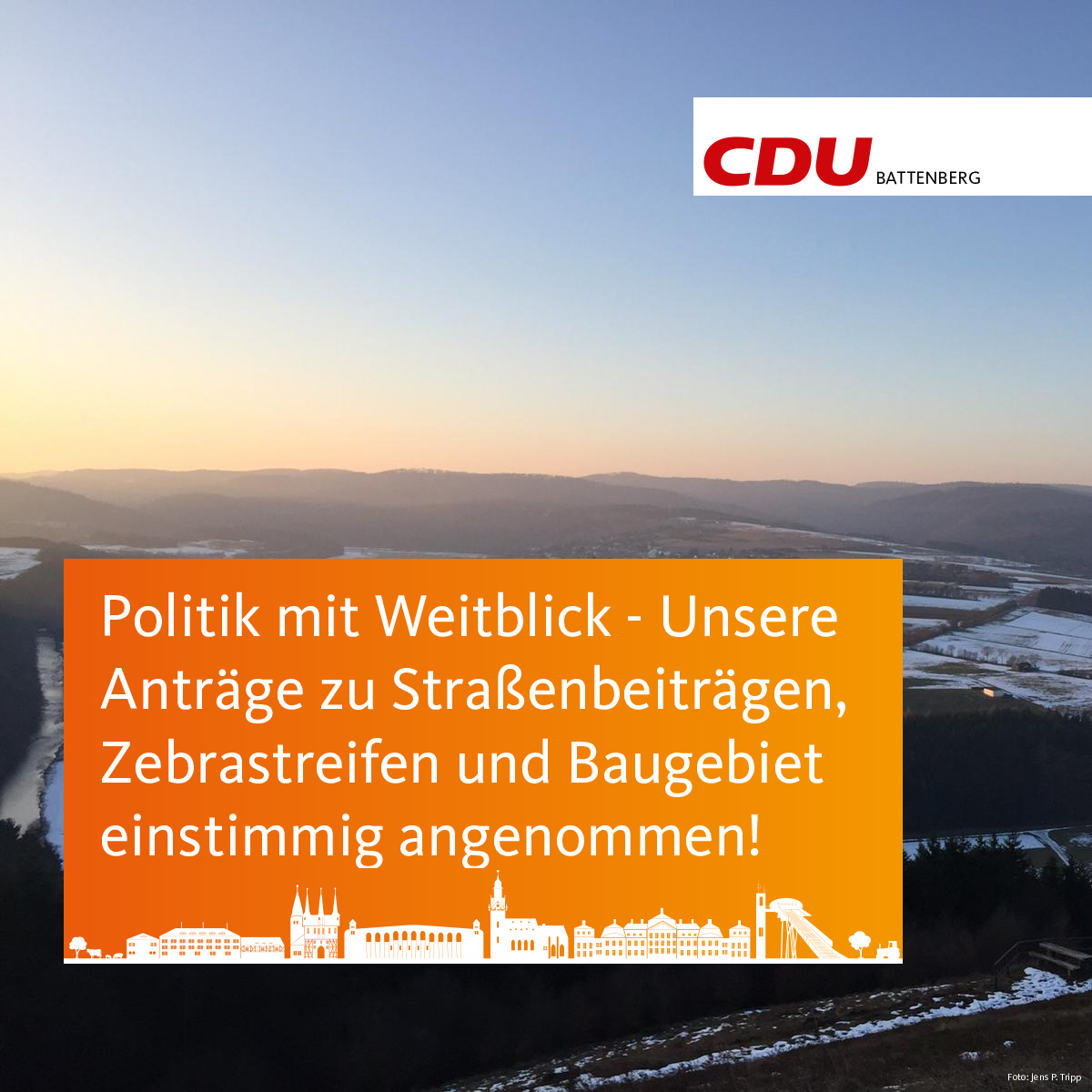 Anträge einstimmig angenommen - Erfolgreiche CDU Fraktionsarbeit in der StV