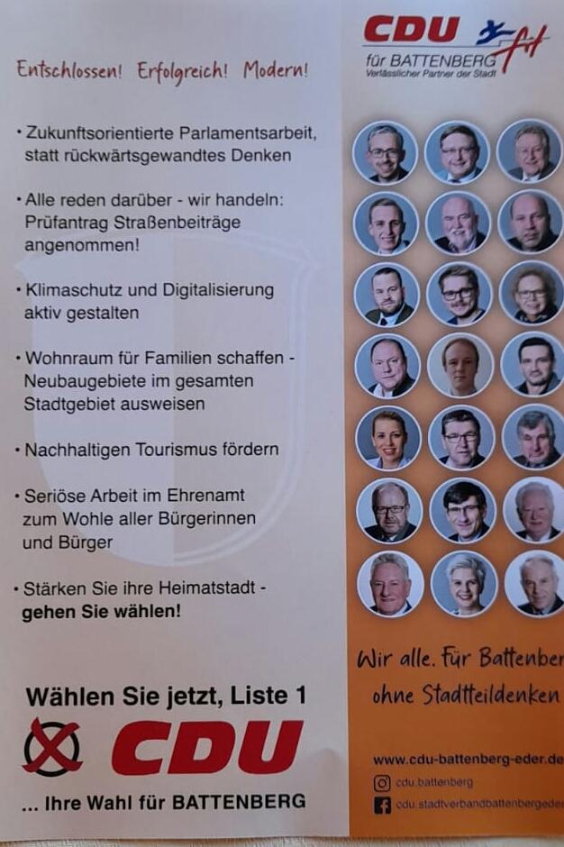 Wahlkampfendspurt - Unseren Flyer finden Sie nun in Ihrem Briefkasten