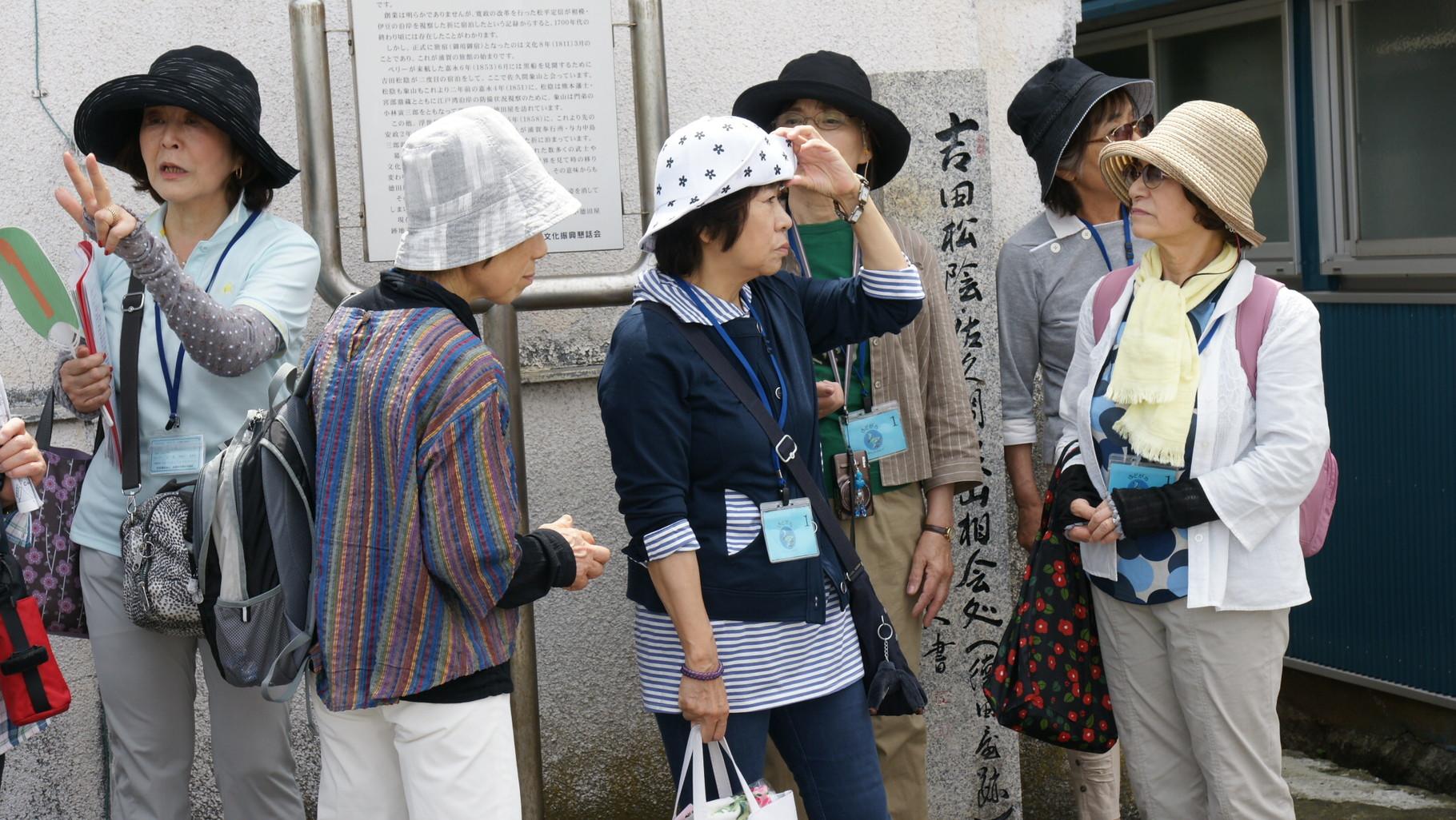 徳田屋跡、吉田松陰と佐久間象山が会って、日本の将来を話し合ったところとのこと