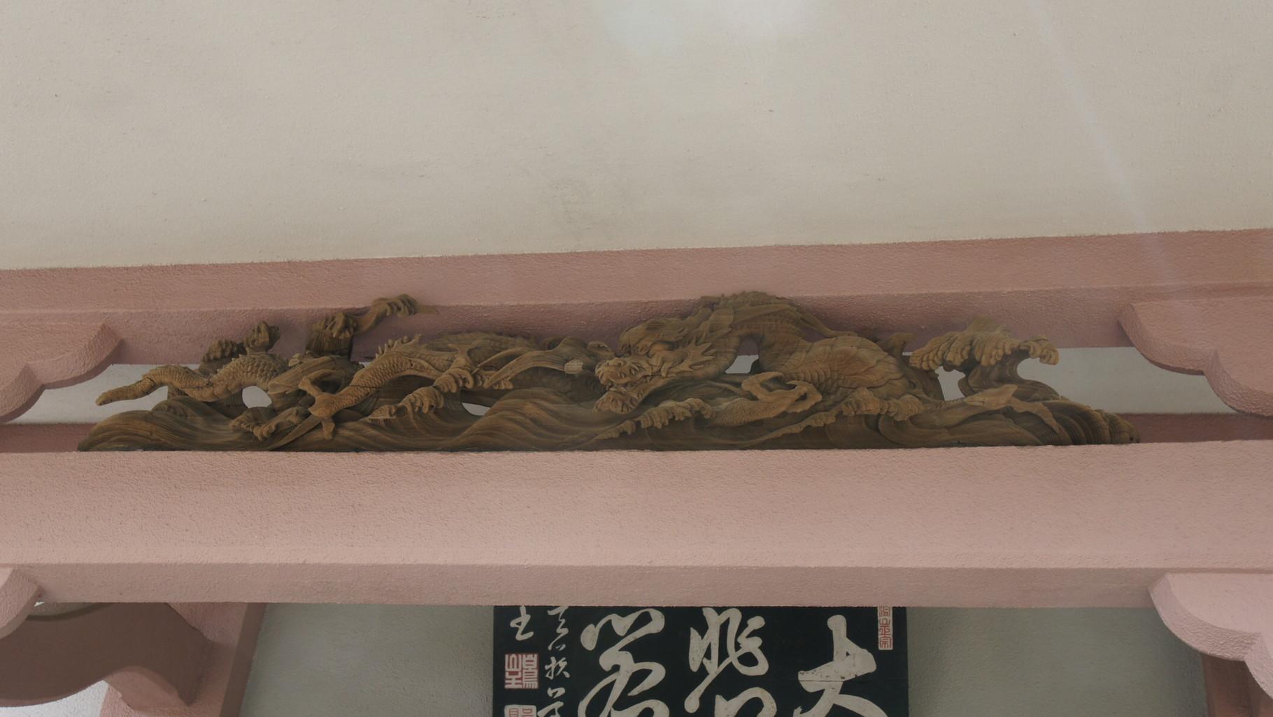西 叶 神社の彫刻
