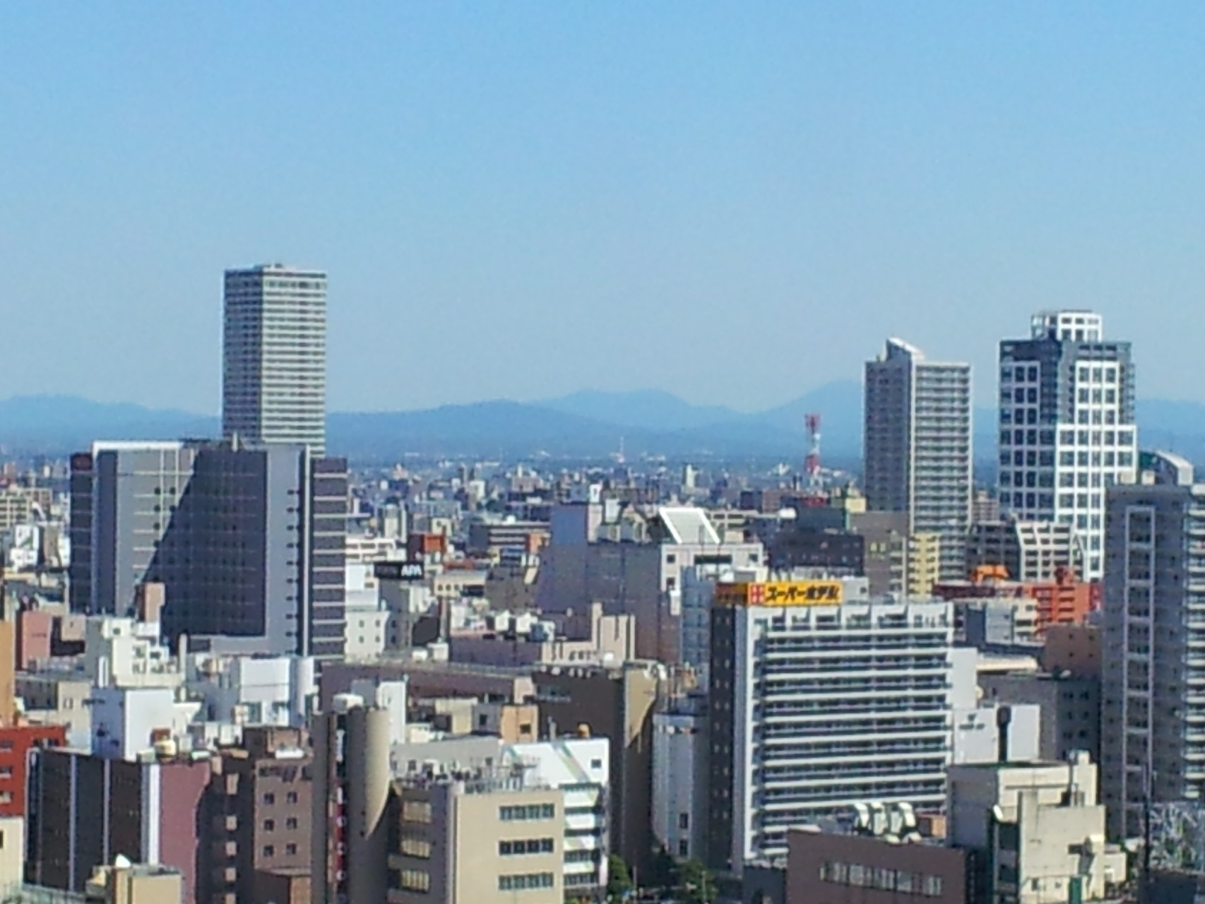 札幌から大雪山連峰が見えるのかな?