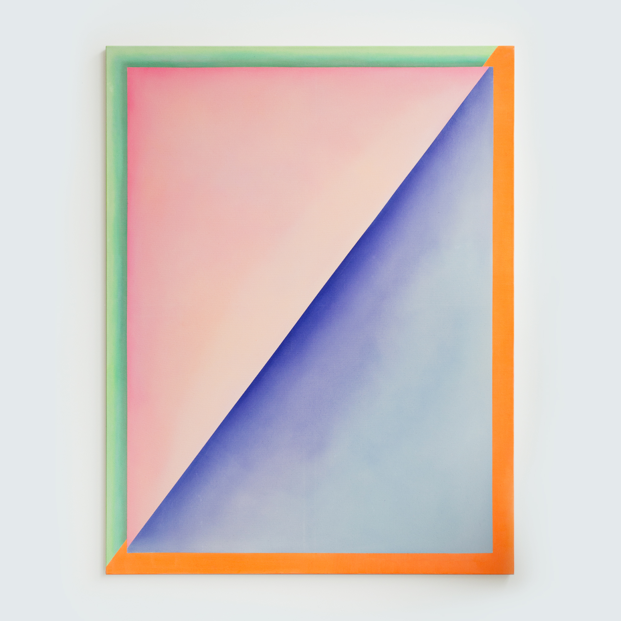 "Alina Birkner ""Untitled (Blue and Blush)"" 2015, 180x140 cm, Acrylic on Canvas"