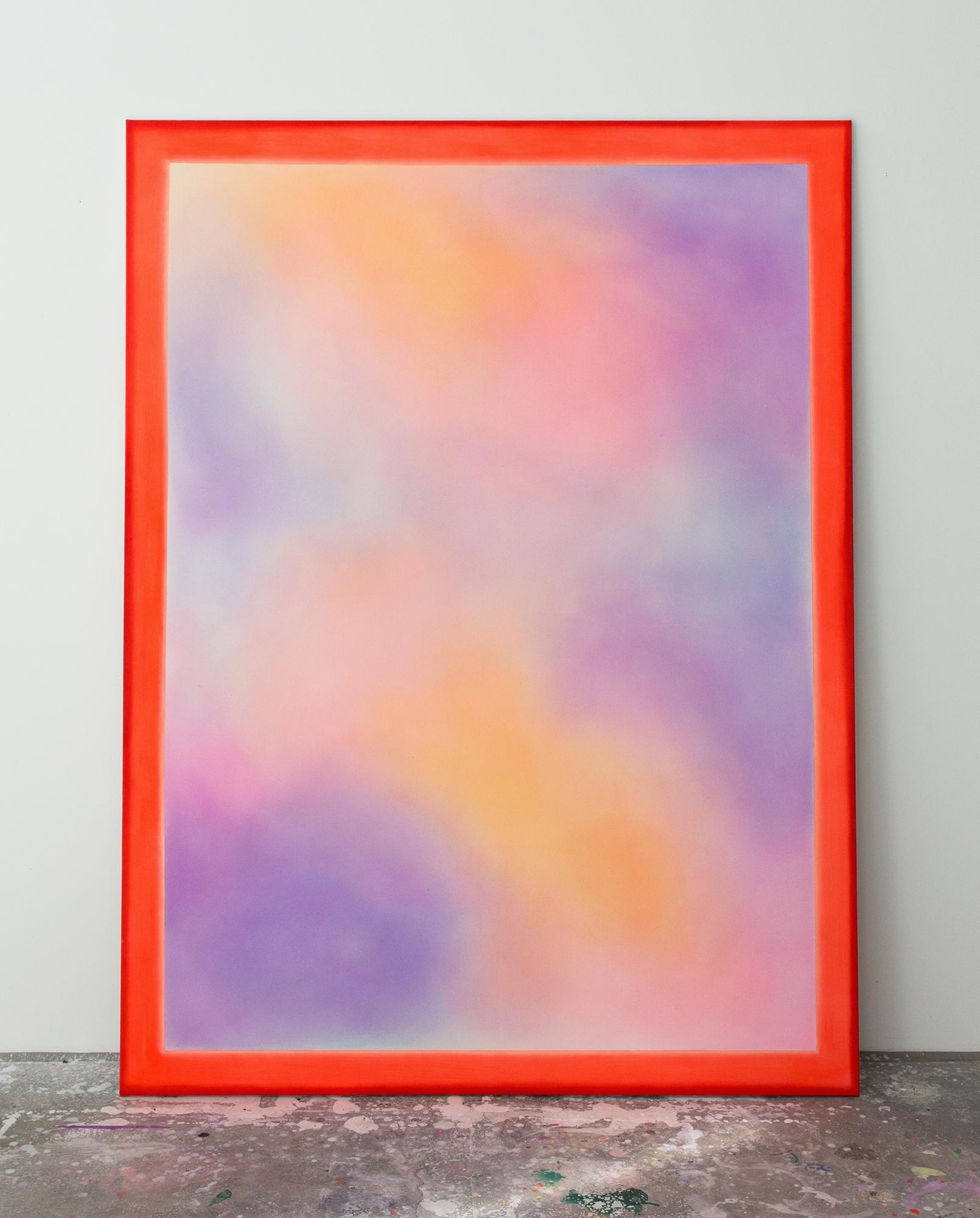 "Alina Birkner ""Untitled (Red Frame) 2016, 200x150 cm, Acrylic on Canvas"
