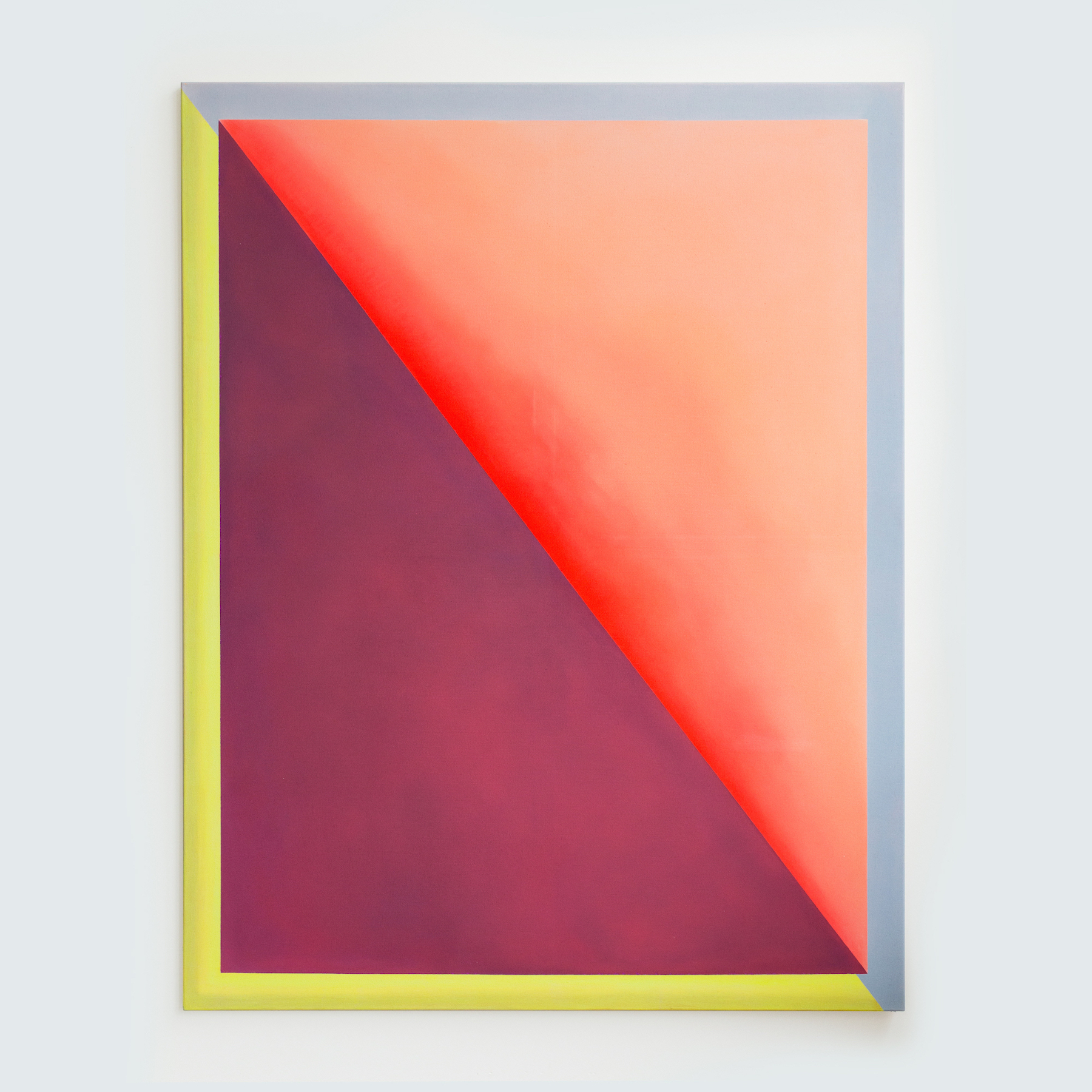"""Alina Birkner """"Untitled (Red and Purple)"""" 2015, 180x140 cm, Acrylic on Canvas"""