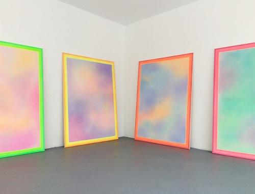 "Alina Birkner Installation View ""I'm a rainbow, too"" 2016, Centercourt Gallery"