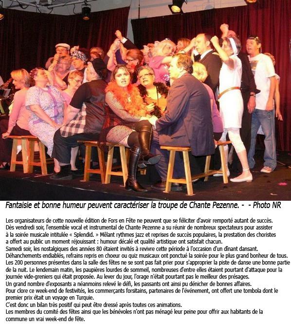 FORS en FETE - 4 Juin 2010 - Nouvelle République 9 Juin 2010