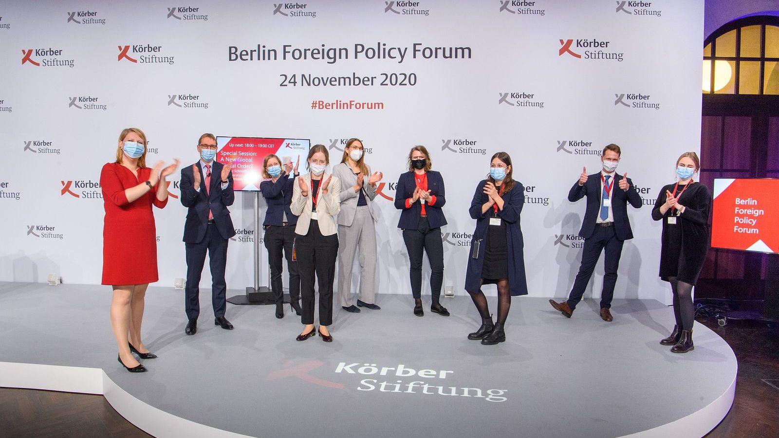 Das Team des Berliner Forum Außenpolitik 2020