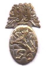 Premier insigne du 99e R.I., circa 1930, acquis à titre onéreux car port non obligatoire, porté sur la vareuse, le calot ou la fourragère...(Coll. priv. 001).