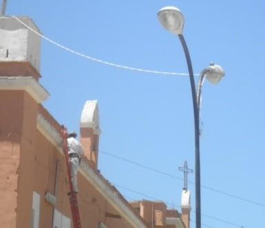 Instalación de lamparas en la Comunidad de La Labor de Guadalupe 2