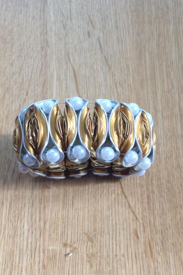 Breites Armband (gold)