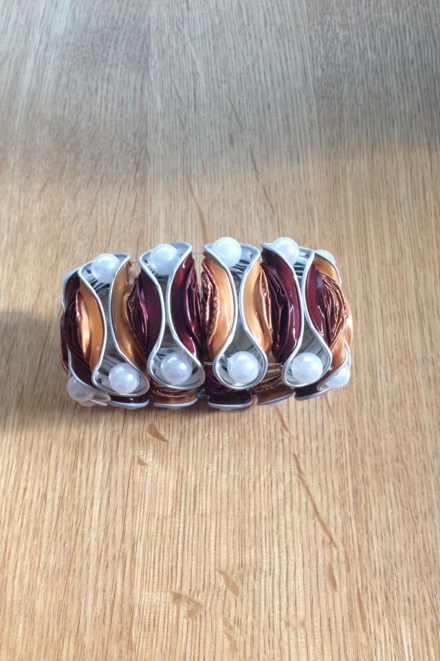 Breites Armband (dunkelrot/spezial Edition orange)