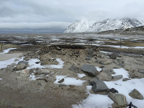 alte Walfangsiedlung mit Friedhof.