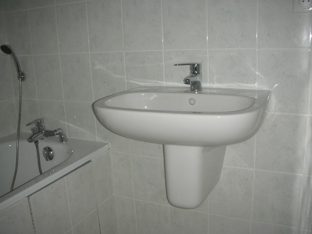 lavabo avec cache siphon