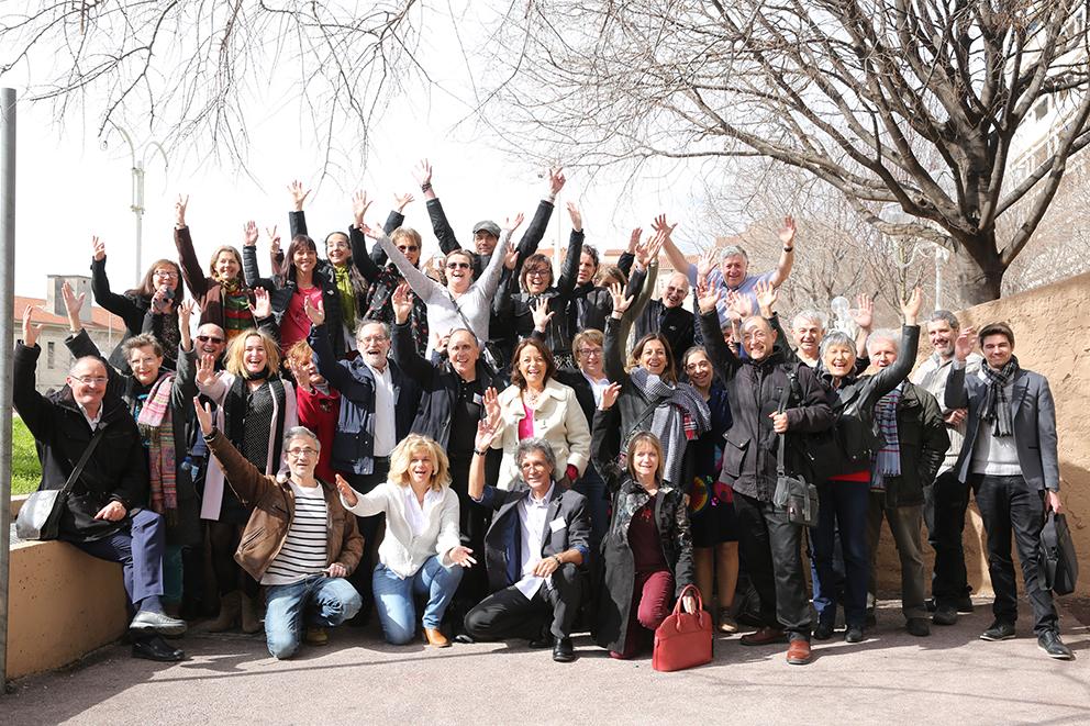 Des candidats et des militants heureux ! Photo prise lors de la journée de formation à Toulon le 5 mars 2017 - Crédit photo : X. Cantat