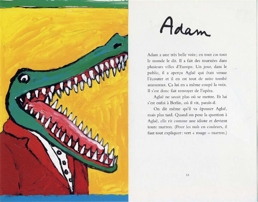 """Album Les garçons et les filles """" Portrait d' Adam """""""