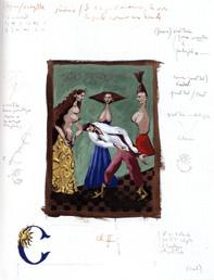 Les Voyelles, 64,7x50 cm  (Gouaches sur papier)