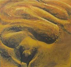 RITUELS MAGIQUES  Acrylique sur toile, 2003, 115 x 116 cm