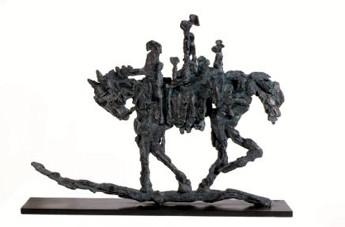 CHEVAL 2005, 35 x 42 x 8 cm, Bronze à cire perdue