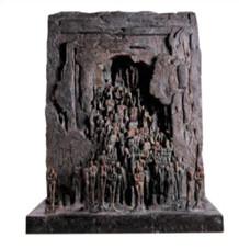 LE PASSAGE 2002, 77 x 58 x 41 cm, Bronze à cire perdue