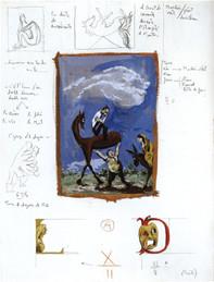 La Dulcinée paysanne, 64,7x50 cm (Gouaches sur papier)