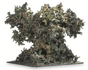 ARBRE IV  2001, 46 x40 x 35 cm, Bronze à cire perdue