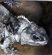 RITUELS MAGIQUES Acrylique sur toile, 2003, 116 x 116 cm