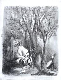 Clair de lune, 160x125 cm  (Mines de plomb sur papier)