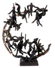 ENTRE CIEL ET TERRE 2010, H : 30 cm environ, Bronze à cire perdue