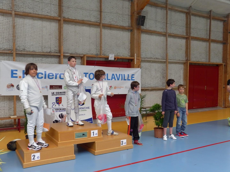 podium pupille avec Hadrien et Lucas sur les 2 premières marches