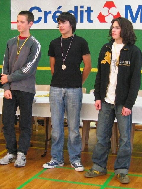 championnats de la Manche (juin 2008) : 3e place pour Emilien en junior