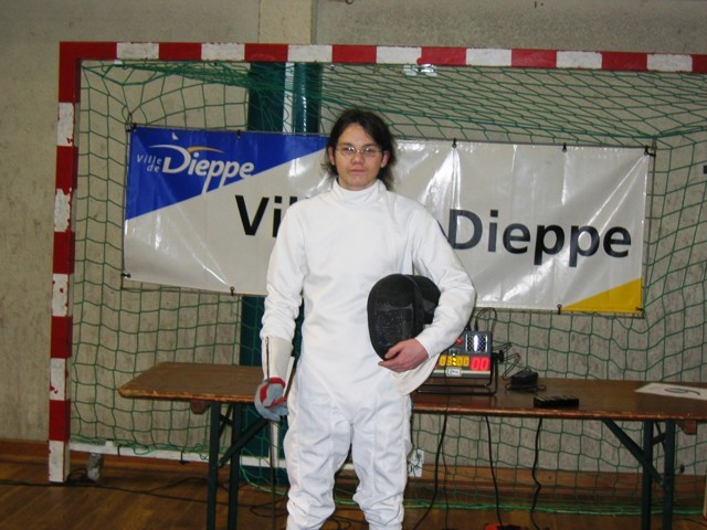 Emilien au tournoi international de Dieppe