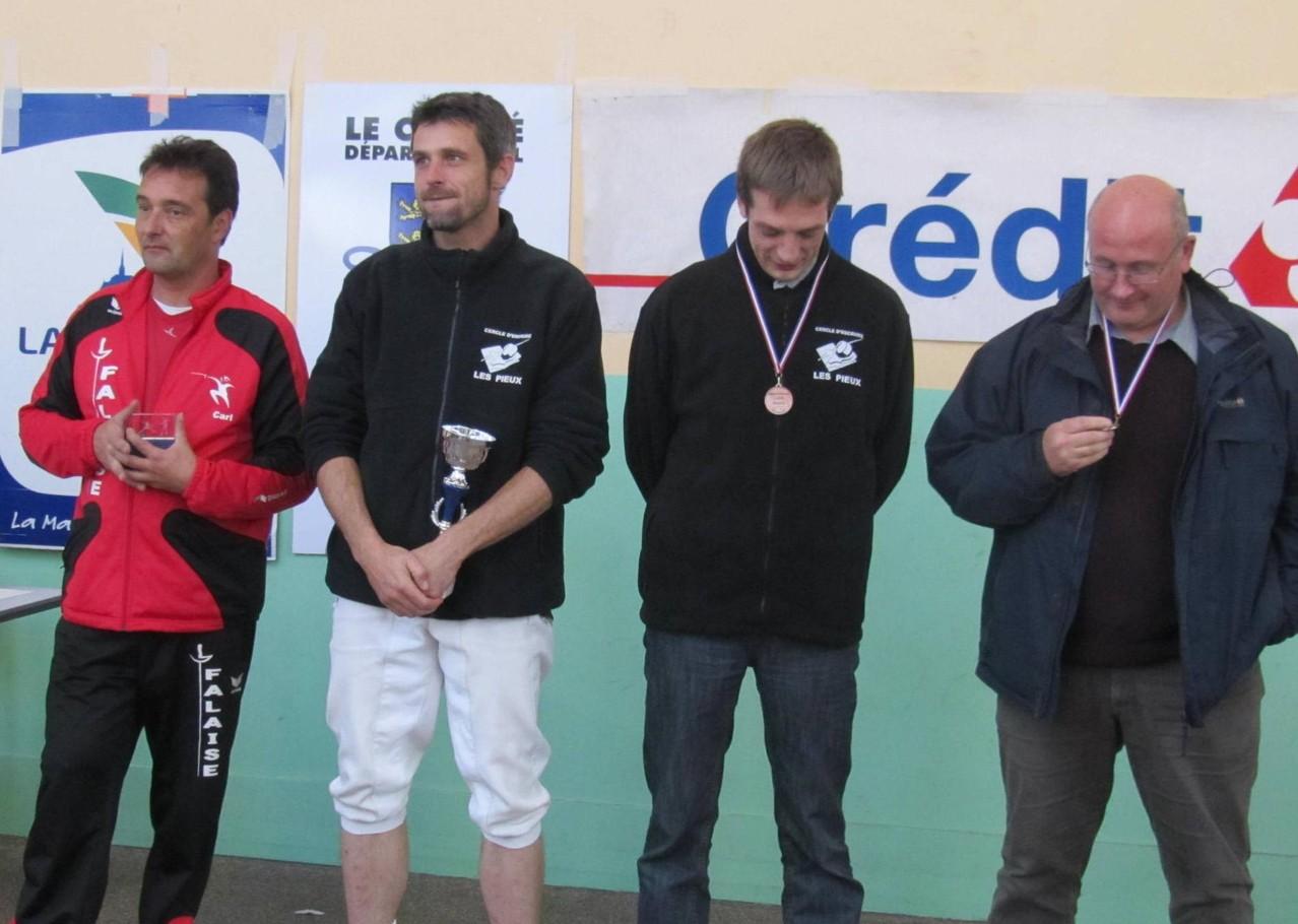 Un beau podium avec 2 de nos 3 représentants sur le podium