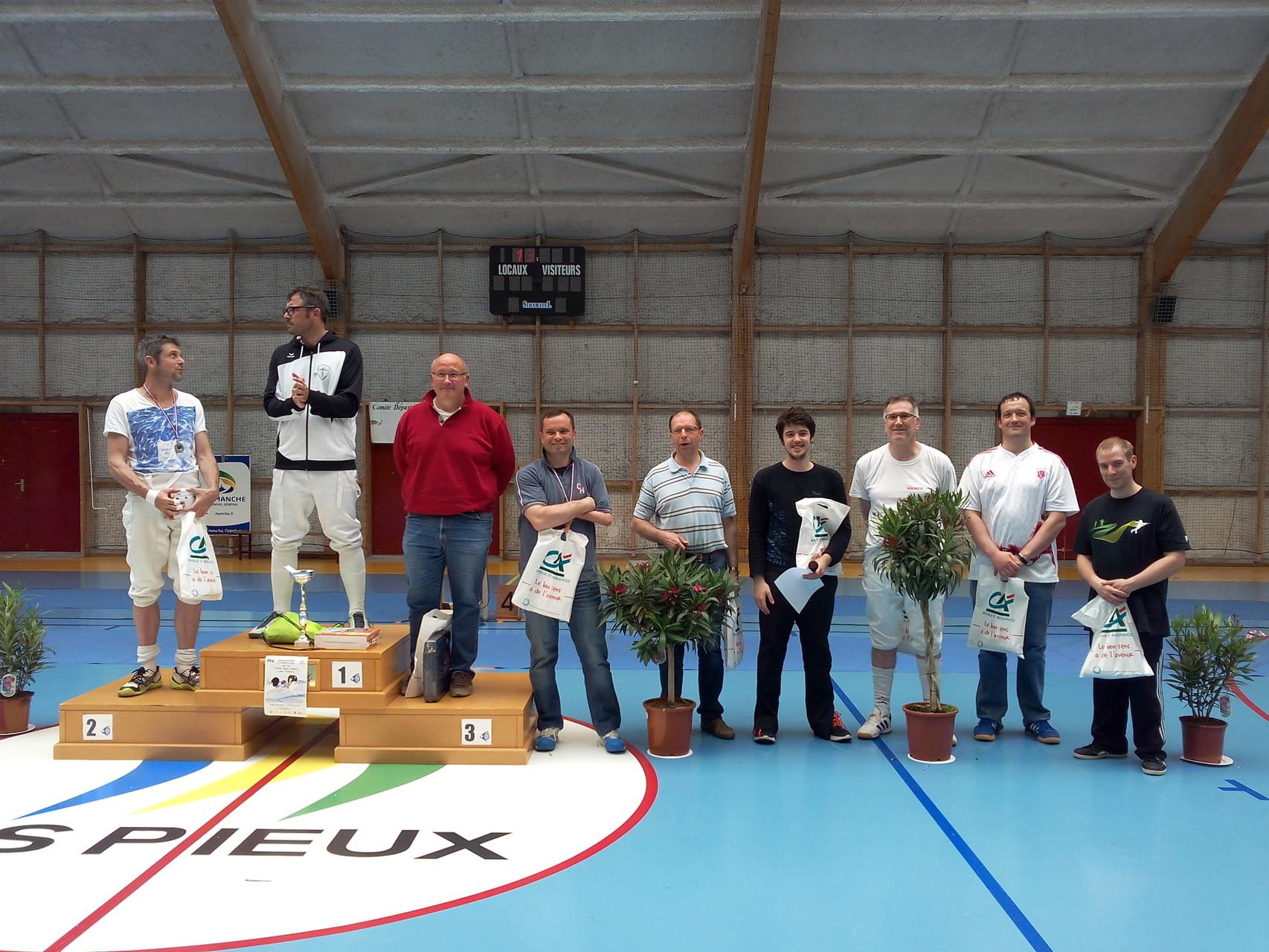 podium épée homme sénior. 2e RABAY Mickaël