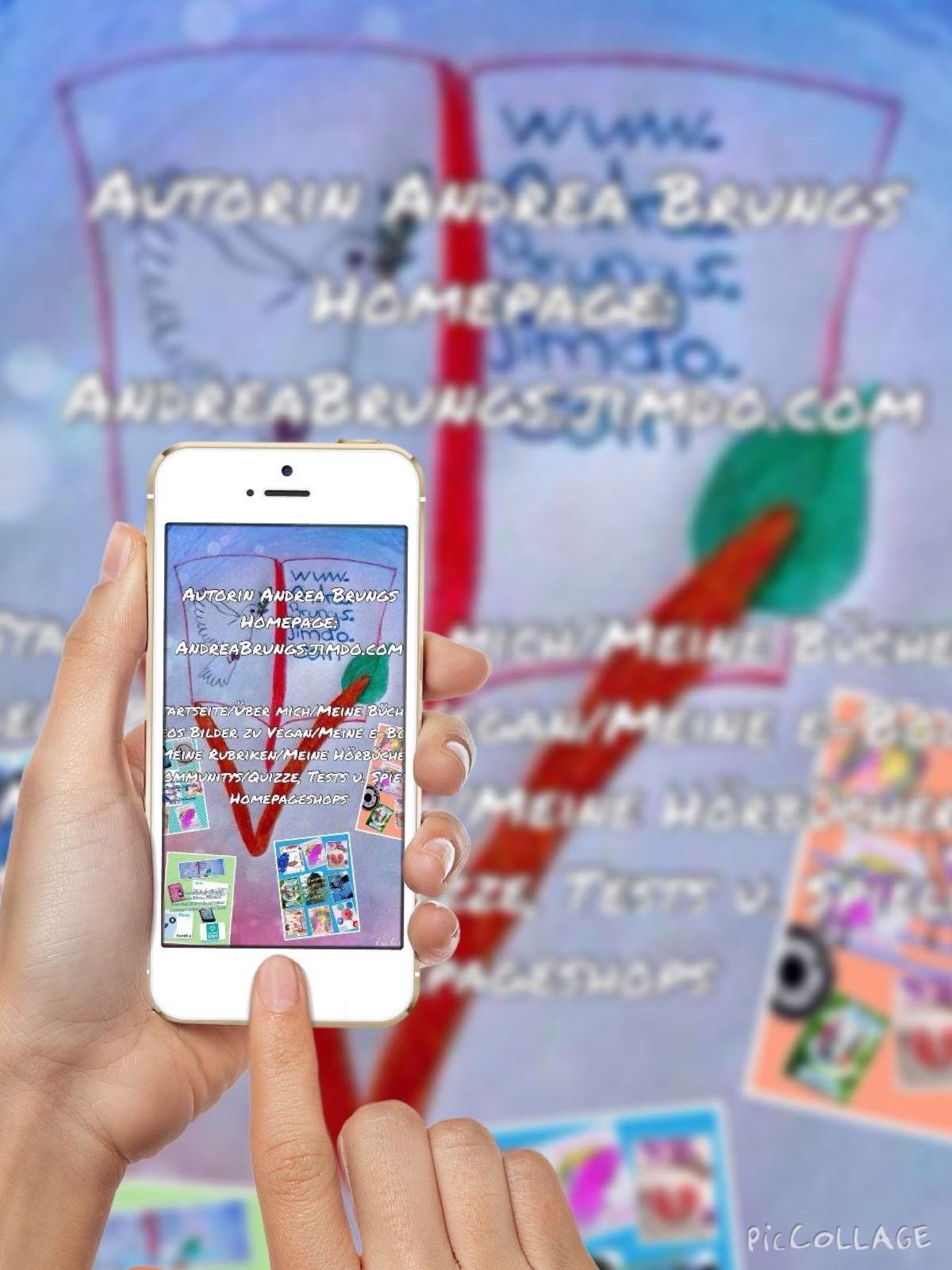 Die Homepage auch für mobile Geräte   Wer öfter mit mobilen Geräten unterwegs ist, der benutzt lieber Apps oder mobil ausgerichtete Internetseiten. Auch andreabrungs.jimdo.com kann sich kostenlos als App von der Website runtergeladen werden und oder fü