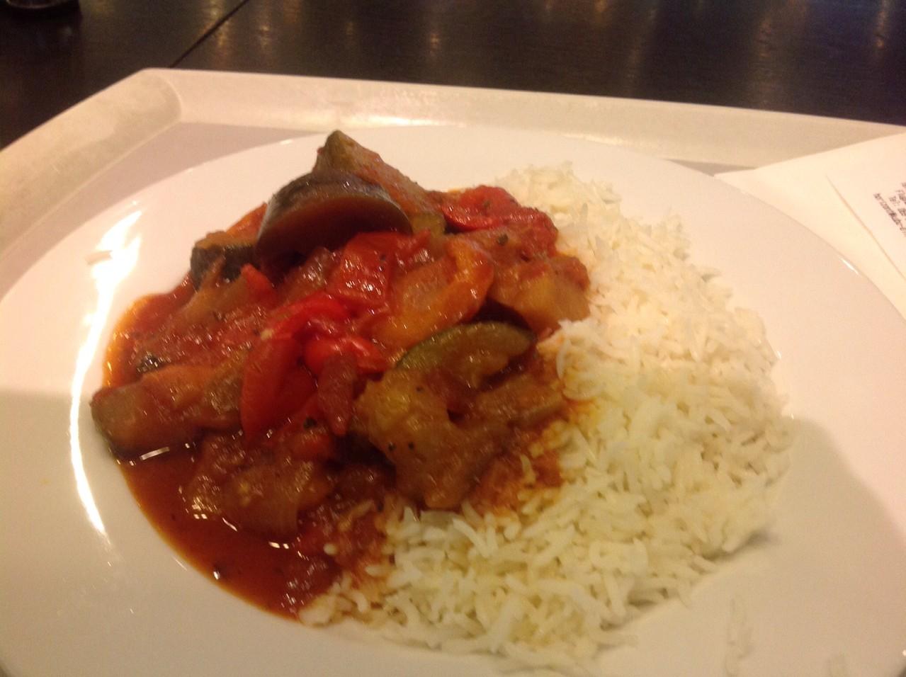 Reis mit Ratatui am Frankfurter Flughafen Weltenrestaurant